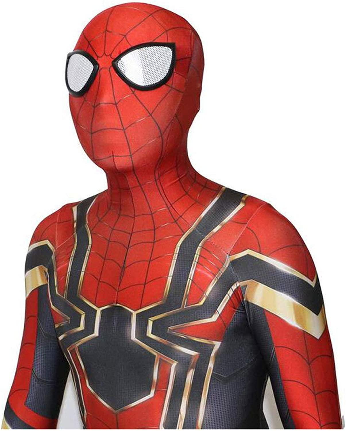 JUFENG SpiderMan 3D Tights Halloween Cosplay Siamese Tights Camouflage Muscles Costume,DadultM