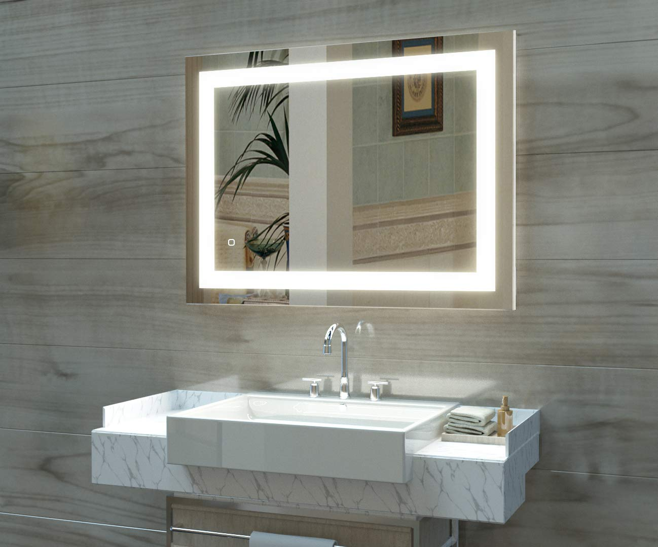 HAUSCHEN Lighted Bathroom Mounted Dimmable