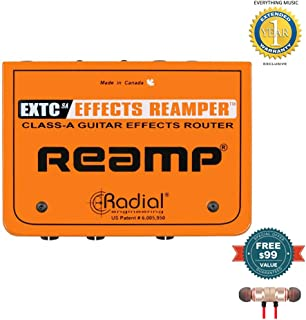 Radial Engineering EXTC-SA Guitar Effects Reamp Interface includes Free Wireless Earbuds - Stereo Bluetooth In-ear and 1 Year Everything Music Extended Warranty