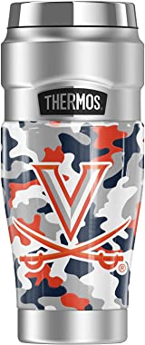 University of Virginia OFFICIAL Camo THERMOS STAINLESS KING Stainless Steel Travel Tumbler, Vacuum insulated & Double Wal