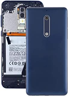 Battery case Jrc Battery Back Cover with Camera Lens & Side Keys for Nokia 5(Blue) Mobile phone accessories (Color : Blue)