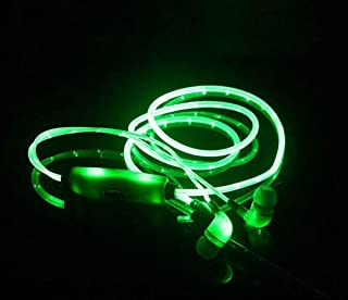 Ocamo LED Luminous In-Ear Earphone Glow Stereo Headphones Headset for iPhone (Green)