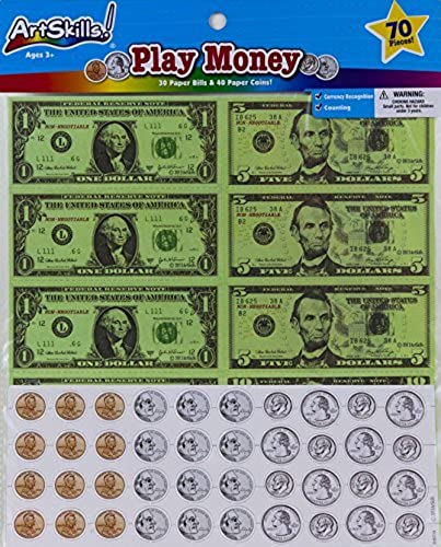 Art Skills - Play Money - 70 Piece Set by ArtSkills