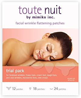Toute Nuit Facial Wrinkle Flattening Patches ' TRIAL PACK 3 Shapes (Anti-Wrinkle Patches/Face Tape)
