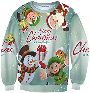 iZHH Mens Sweatshirt Long Sleeve Tops Blouse Pullover Jumper Christmas Costume
