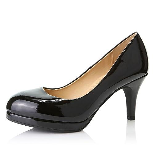 DailyShoes Women s Sexy Pump Platform High Heels Round Toe Shoes d14ea988c