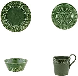 Bordallo Pinheiro Rua Nova 16 Pieces Dinnerware Set - Green