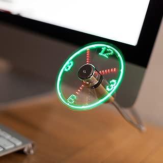 TRIXES Flexible USB LED Display Desktop & Laptop Clock Fan