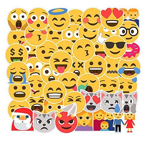 MBGM EMOJI Smiley Emoji etiqueta casco cuaderno computadora escritorio coche carro agua taza mano cuenta etiqueta