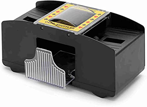 high quality Electronic Playing Card Shuffler Automatic Battery Operated 2 Standard Desks with wholesale Push new arrival Button sale