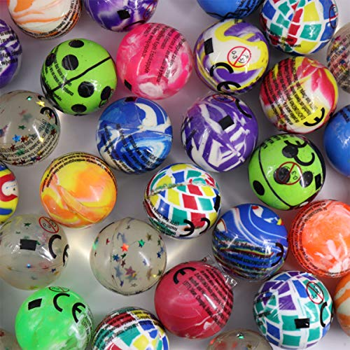 LG-Imports Flummis 32mm Springball Bunt Dopsball Mix Mitgebsel 24er Set Spielball Hüpfball Kindergeburtstag