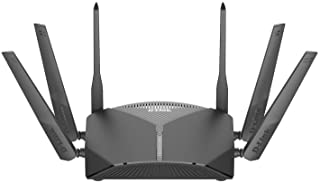 D-Link WiFi Router AC3000 Mesh Smart Internet Network Works with Alexa & Google Assistant, MU-MIMO Tri Band Gigabit Gaming Mesh (DIR-3040-US), Black