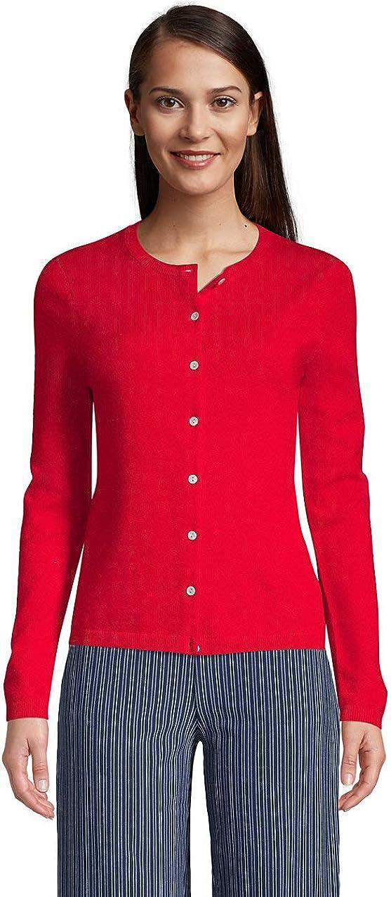 Lands' End Women's Cashmere Cardigan Sweater