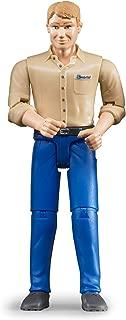 Bruder 60006 bworld Man with Light Skin/Blue Jeans Toy Figure