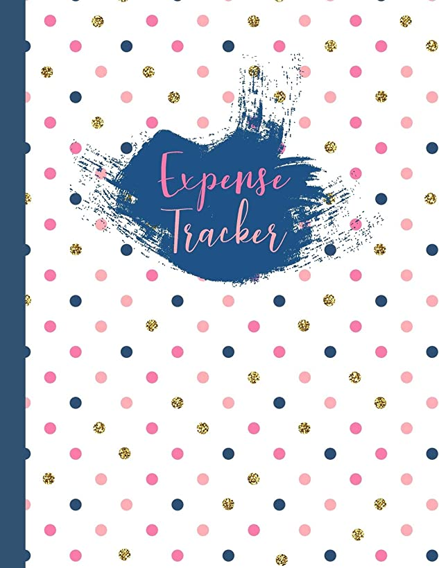 Expense Tracker: Polka Dots Large Spending Log Book To Keep Track Of Your Personal, Family or Business Finances, Letter Size Notebook for Tracking and Organizing Your Bills