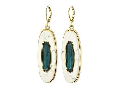 Vince Camuto Drop Earrings (Gold/Montana/White Howlite) Earring