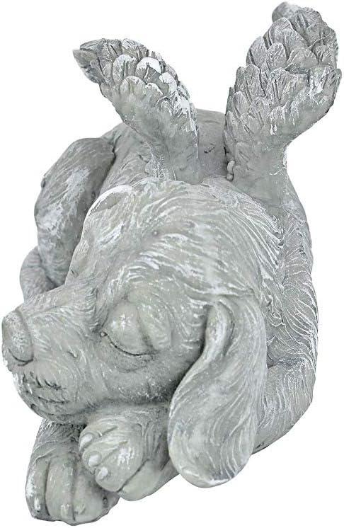 Cat Estatua Del Animal Dom/éstico Del /ángel Conmemorativo Del Perro//Gato Ala De /ángel De Resina Protege La Estatua De Piedra Conmemorativa Del Jard/ín Del Perro Durmiente