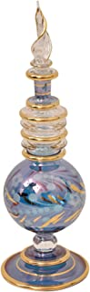 Best CraftsOfEgypt Egyptian Perfume Bottles Single Large Hand Blown Decorative Pyrex Glass Vial Height inch 7.75 inch (20 cm) Review