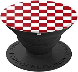 Checkerboard Red and White   Check Pattern / Checkered - PopSockets Grip and Stand for Phones and Tablets