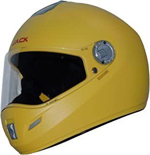Steelbird SBH-2 Jack Dashing Full Face Helmet with Plain Visor (Large 600 MM, Dashing Yellow)