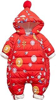 famuka Infant Winter Romper Unisex Baby Down Hooded Coat Windproof Waterproof Snowsuit