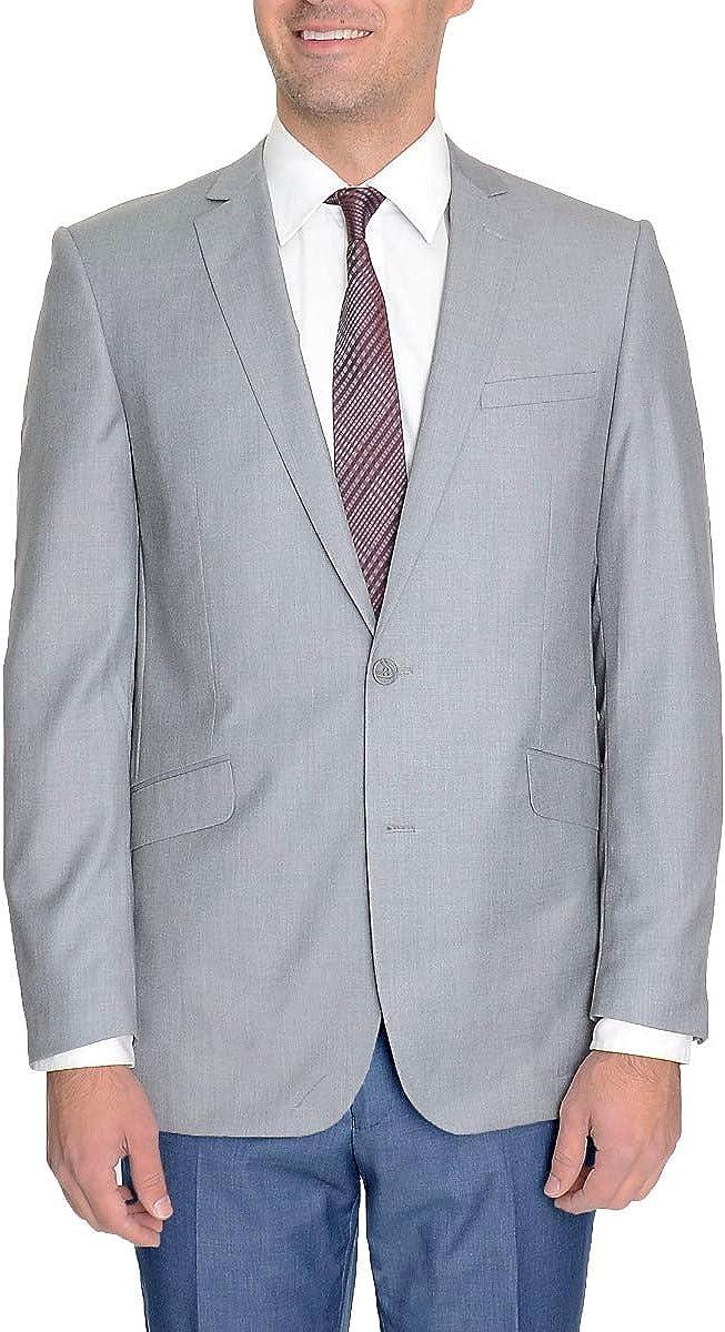 Raphael Slim Fit Light Heather Gray Two Button Blazer Suit Jacket