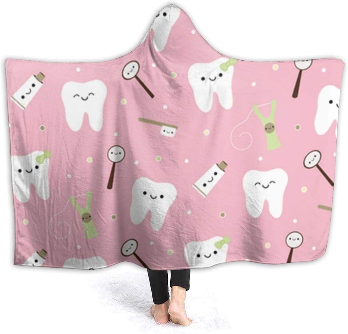 NiYoung Men Women Novelty Hooded Blanket Super Soft Warm Flannel Fleece Wearable Hoodie Blanket Throw for Home Office School Travel 50x40 Cute Funny Llama Rainbow Alpaca