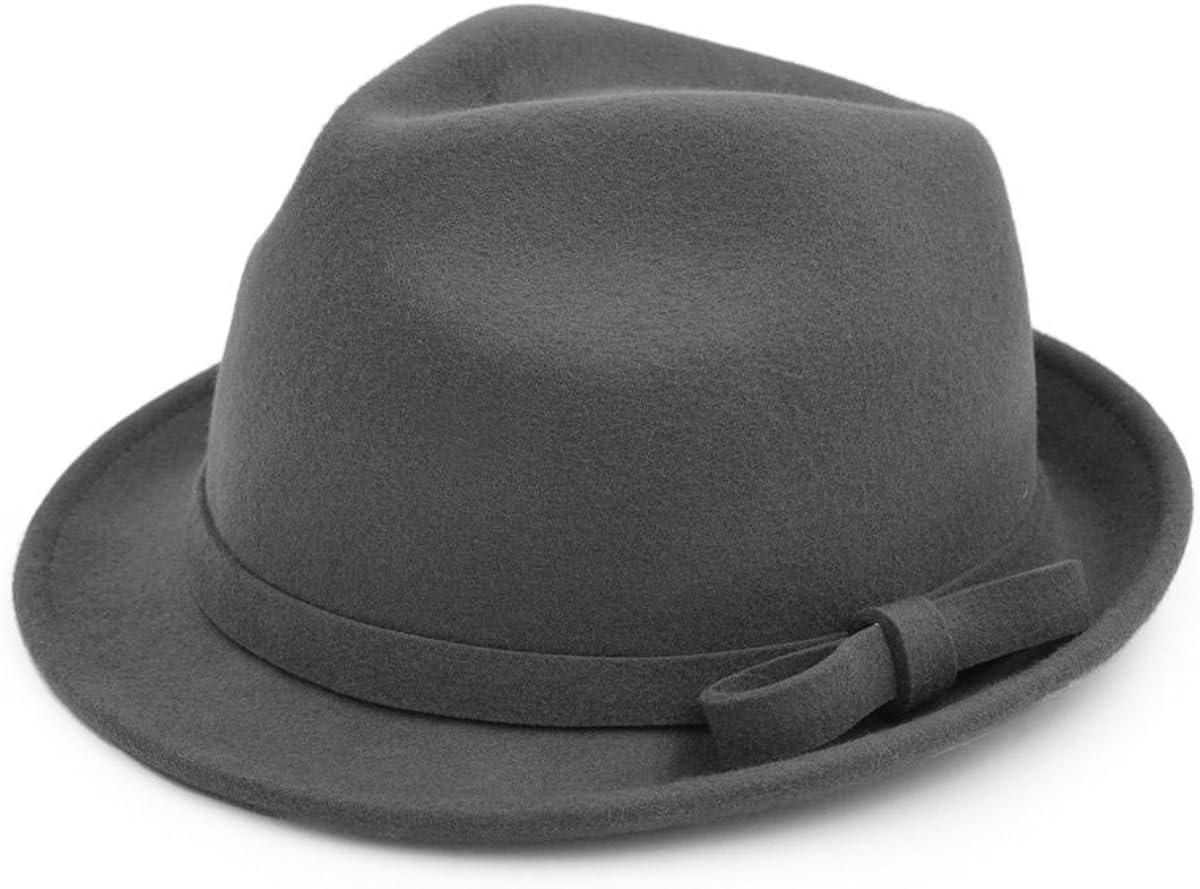 Women's Deluxe 100% Wool Solid Color Fedora Hat