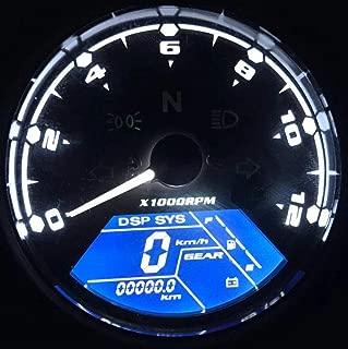 Terisass Motorcycle Speedometer Colorful LCD Digital Speedometer Tachometer 2 In 1 Universal with Speed Sensor