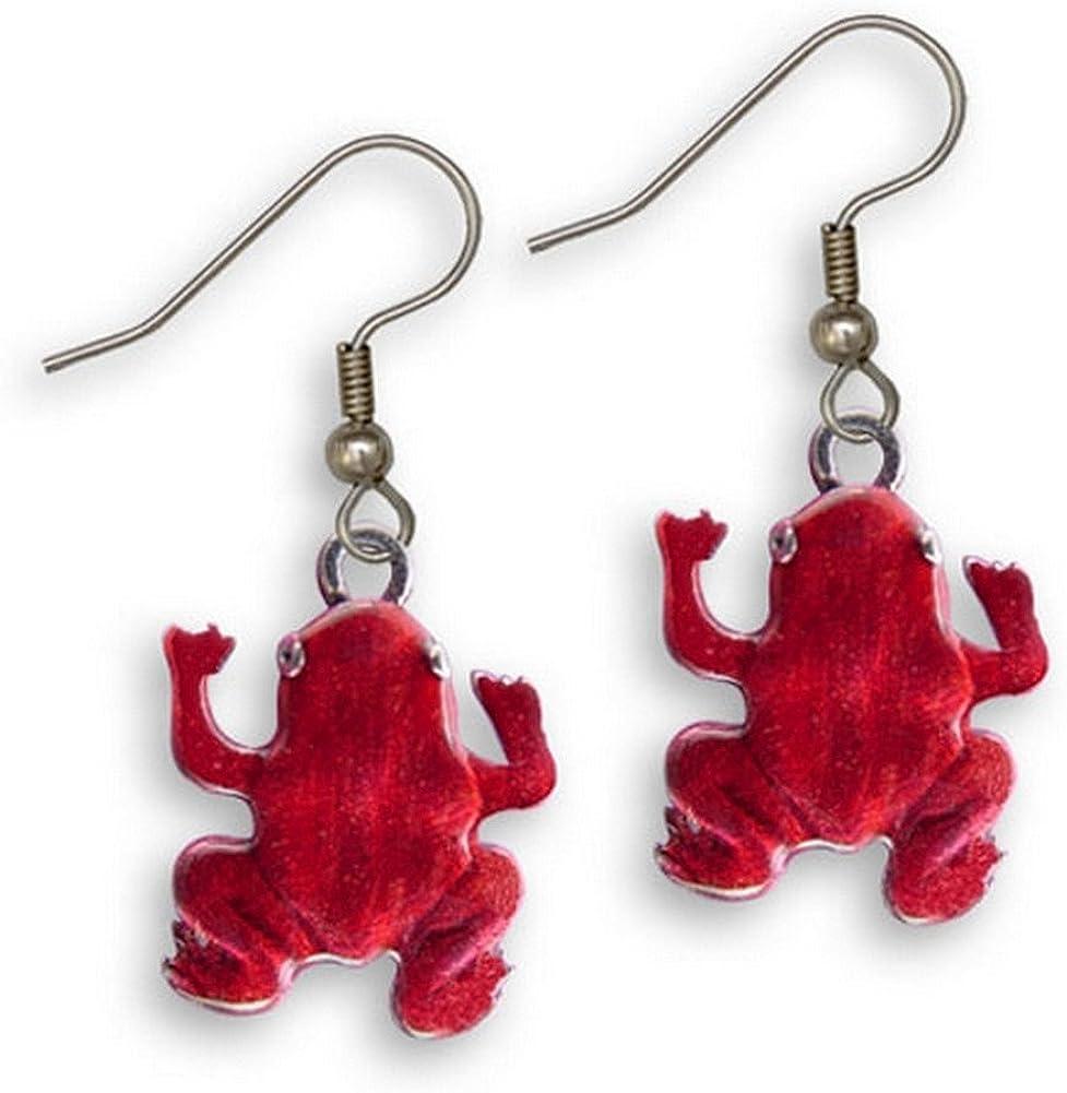 Enamel Red Frog 大幅値下げランキング Earrings 日本正規品 Magic Zoo The by