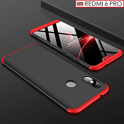 WOW Imagine 3-in-1 Double Dip Anti Slip Super Slim Hybrid All Angle Protection Lightweight Matte Hard Back Case Cover for XIAOMI REDMI 6 PRO