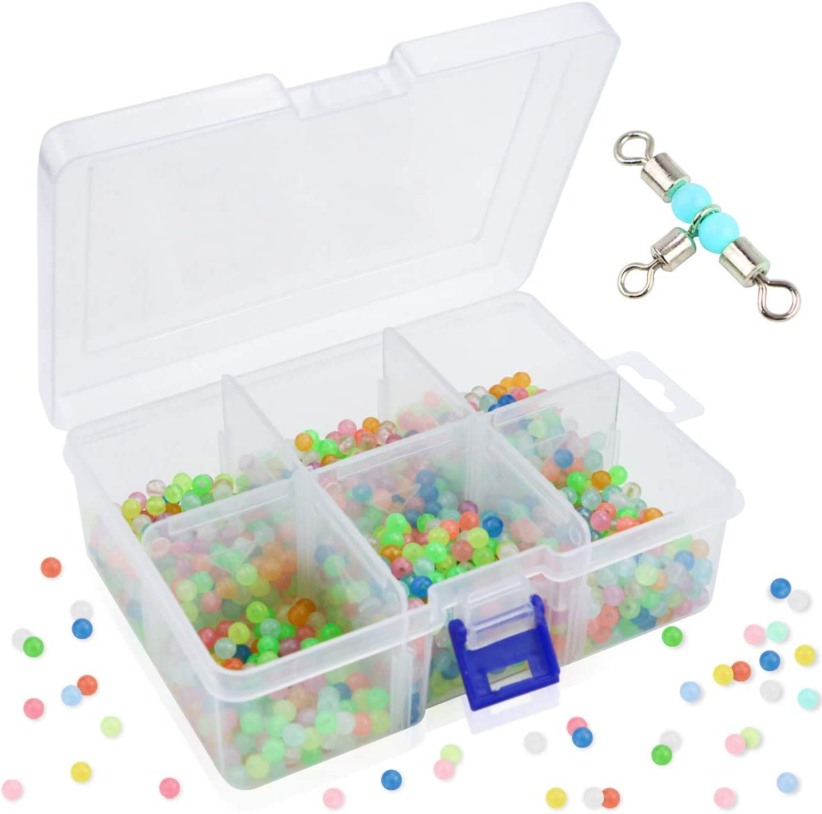 MotBach 1500 Pcs Special price 6mm Sales for sale Round Beads Glow Fishing Float Rig