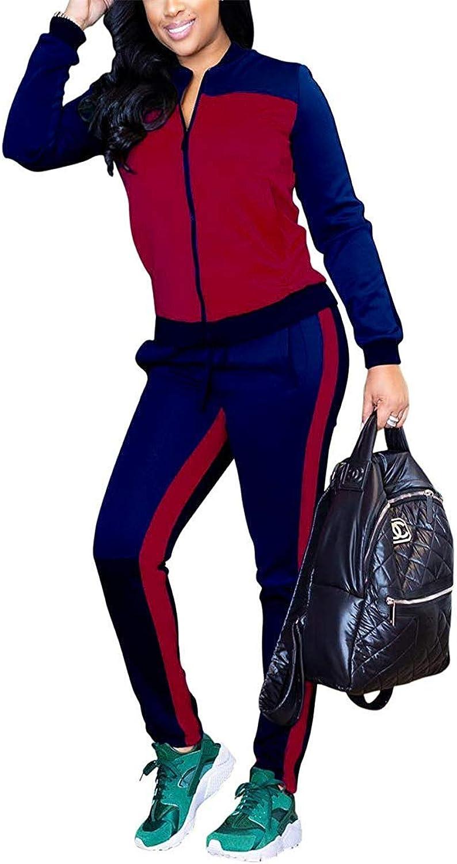 ALING Women's 2 Piece Outfits Jacket Suit Pants Sweatsuits Set Tracksuits