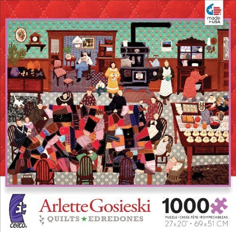 despacho de tienda Ceaco Arlette Gosieski Quilts Quilts Quilts Crazy Quilt Bee Jigsaw Puzzle by Ceaco  Web oficial
