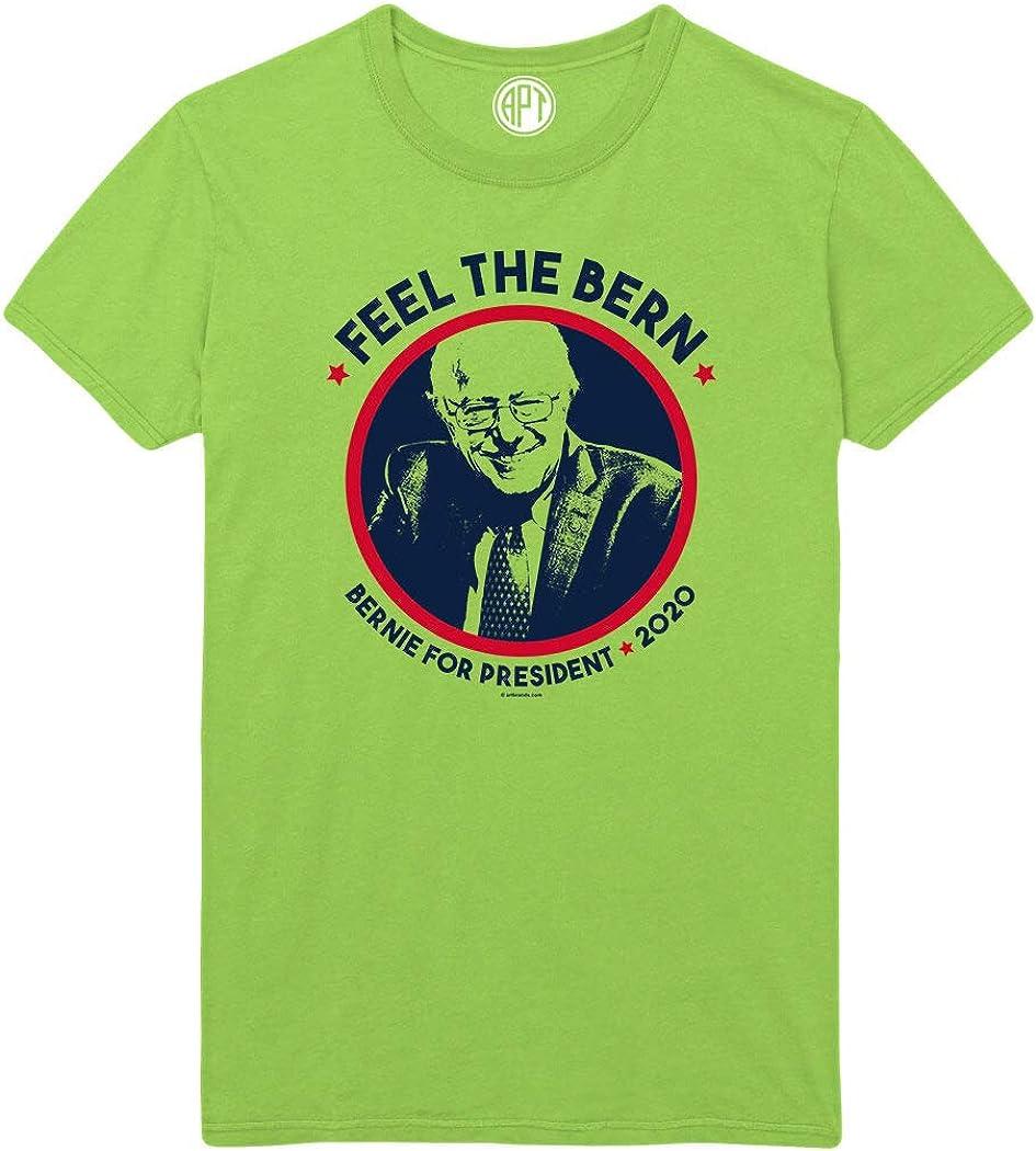 Feel The Bern Printed T-Shirt - Lime - XLT