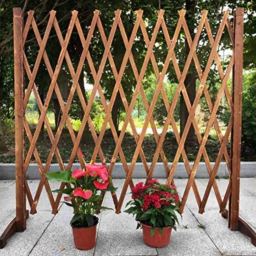 YQGOO Valla de jardín, Panel de Pantalla de jardín para Patio, Valla de jardín Decorativa, Soporte de Flores para Crecimiento de Plantas al Aire Libre, Valla de Madera de 120 cm
