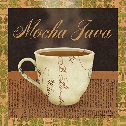 Feeling at home Lienzo-con-AMERICANO-CAJA-Mocha-Java-Ven-Vertloh-Lisa-Cocina-Fine-Art-impresión-sobre madera-marco-Cuadrado-14x14_in