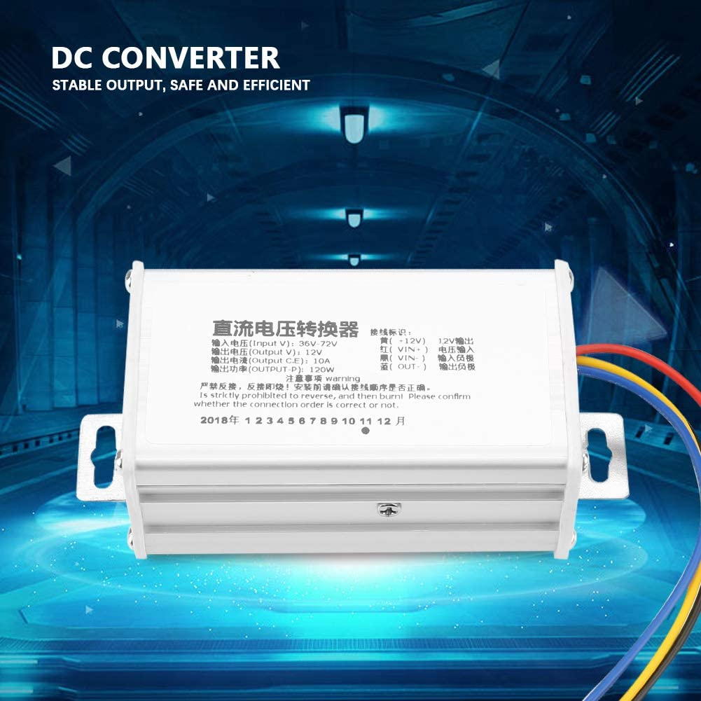 Heayzoki DC-DC Power Supply,DC Converter Step-Down Power Supply Module 36V-72V to 12V 10A 120W,DC Converter with Stable Performance