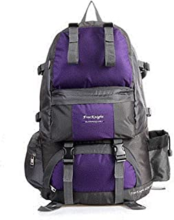SP-Xhz 50L Hiking Backpack Outdoor Sports Waterproof Climbing Camping Hiking Mountaineering (Color : Purple)