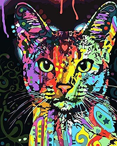 MEEKIS DIY Digitale Gemälde Handgemalte Wand Tier Tuch Malerei Wohnzimmer Dekoration Gemälde 40X50 cm Elefant -No Frame