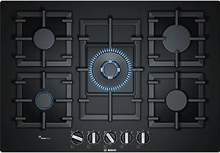 Bosch Série 6PPQ7A6B90 Plaque de cuisson gaz encastrable Verre Noir 1000W 1750W