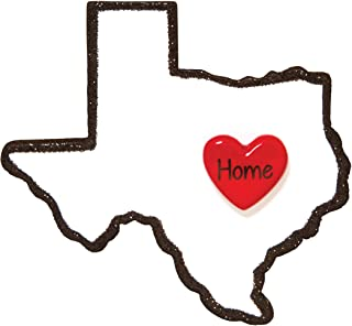 Personalized Texas Christmas Tree Ornament 2019 - State Home Heart Houston Space Center NASA Austin LBJ Desert Dallas Antonio Holiday Tourist Away Love First Visit Gift Year - Free Customization