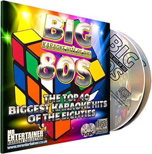 Mr Entertainer Big Karaoke Hits of The 80's (Eighties) - Double CD+G (CDG) Pack. 40 Classic Songs. música de los ochenta