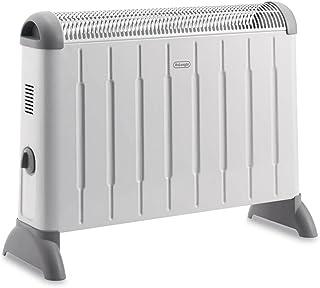 Delonghi HCM2020 Calentador De Convección, 2000 W, Acero Inoxidable, Blanco