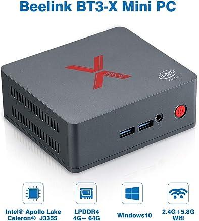 Beelink BT3-X Mini PC Window 10 RAM 4GB LPDDR4+ROM 64GB eMMC CPU: Intel Apollo Lake J3355 GPU: Intel HD Graphics 500 WiFi 2.4GHz + 5.8GHz 1000Mbps 4 x USB3.0 BT4.0 Nero - Confronta prezzi