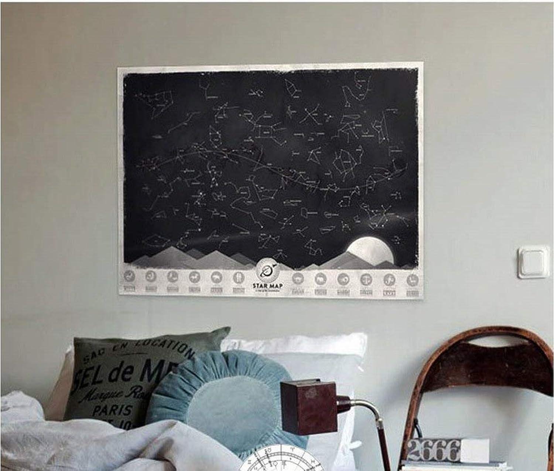 Wisdom Sternen-Sternkonstellationskarte der Sternplakat-Wanddekorationen Leuchtende, um Eine Romantische Mininachthimmelverzierungen zu Schaffen B07H8B26N4 | Verwendet in der Haltbarkeit  | Feinen Qualität  | Roman