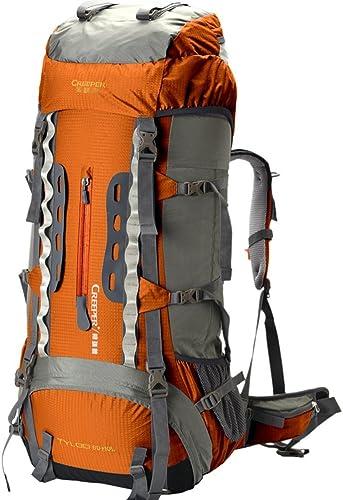 Backpack éclairage Sac de randonnée imperméable 70L Sac à Dos en Plein air Grand Sac de capacité extérieur d'escalade Package-jaune 70L