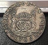 1769 (JR) Armas de Bolivia de España 8 Reales-Carlos III Moneda de Copia bañada en Plata