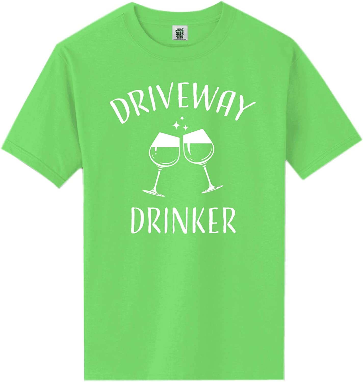 zerogravitee Driveway Drinker-Wine Short Sleeve Neon Tee