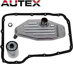 AUTEX 4x4 Deep Pan Transmission Solenoid Fluid Change Filter Service Gasket Kit Fit 45RFE 545RFE 68RFE 4WD 3.7 L 4.7L 5.7L 2.8L, Compatible With Jeep Liberty 2003-2007 5 SP R/4WD L4 2.5L/2.8L DIESEL